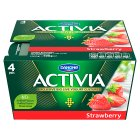 Danone Activia strawberry yogurt - 4x125g Brand Price Match - Checked Tesco.com 16/04/2014