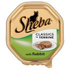 Sheba classics in terrine rabbit foil tray cat food