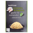 Waitrose  garlic & coriander couscous - 110g