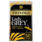 Twinings lady grey 50 tea bags - 125g