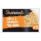 Sharwood's naans mini garlic & coriander - 4s