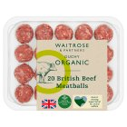 Duchy Originals for Waitrose 20 British organic beef meatballs - 0.30kg