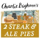 Charlie Bigham's 2 steak & ale pies - 600g