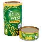 John West tuna chunks in sunflower oil, 4 pack - drained 4x112g