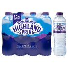 Highland Spring, spring still water, 12 pack - 12x500ml Brand Price Match - Checked Tesco.com 25/11/2015