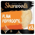 Sharwood's plain poppadoms - 8s Brand Price Match - Checked Tesco.com 17/12/2014