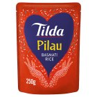 Tilda pilau steamed basmati rice - 250g Brand Price Match - Checked Tesco.com 16/04/2014