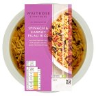 Waitrose spinach & carrot pilau rice - 300g