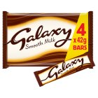 Galaxy milk chocolate, 4 pack - 4x42g