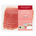 Waitrose 8 British Outdoor Bred smoked dry cured back bacon rashers - 250g