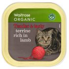 Waitrose special recipe organic terrine with lamb cat food - 100g