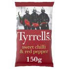 Tyrrells sweet chilli & red pepper potato chips - 150g