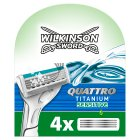 Wilkinson quattro titanium blades - 4s Brand Price Match - Checked Tesco.com 16/04/2014