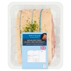 Waitrose British crackling pork boneless leg roast - per kg