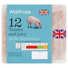 Waitrose 12 British Outdoor Bred Premium Pork Chipolatas - 340g