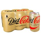 Diet Coke caffeine free multipack cans - 6x330ml