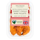 Waitrose British sweet chilli roast chicken mini fillets - 175g