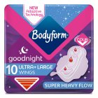 Bodyform ultra goodnight with wings - 10s Brand Price Match - Checked Tesco.com 17/12/2014