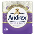 Andrex Gorgeous Comfort Quilted Toilet Rolls - 4s Brand Price Match - Checked Tesco.com 08/02/2016