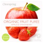 Clearspring Organic Apple & Strawberry Puree - 2x100g