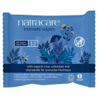 Natracare organic intimate wipes - 12s