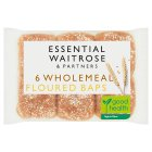 essential Waitrose wholemeal baps - 6s