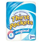 Thirst Pockets white kitchen towels - 2s