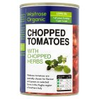 Waitrose Organic tinned chopped tomatoes with chopped herbs - 400g