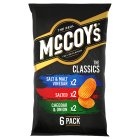 McCoy's ridge cut classic chips - 6x30g Brand Price Match - Checked Tesco.com 08/02/2016