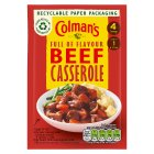 Colman's recipe mix beef casserole