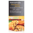 Waitrose MSC frozen smoked haddock fish cakes x 2 - 230g
