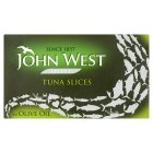 John West tuna slices in olive oil