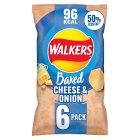 Walkers Baked cheese & onion crisps - 6x25g