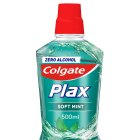Colgate plax soft mint mouthwash - 500ml Brand Price Match - Checked Tesco.com 04/12/2013