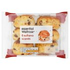 essential Waitrose sultana scones - 6s