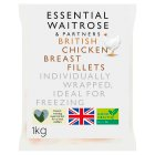 essential Waitrose British chicken breast fillets - 1kg