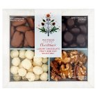 Waitrose Christmas Belgian chocolate nut collection - 210g