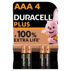 Duracell Plus Power AAA Batteries Alkaline - 4s