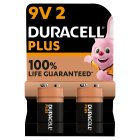 Duracell Plus Power 9V Batteries Alkaline - 2s
