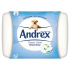 Andrex Washlets Moist Toilet Tissue Wipes, Tub - 42x1 sheet
