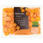 Waitrose diced butternut & sweet potato - 350g