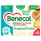Benecol dairy free tropical fruit & soya - 6x65.5g