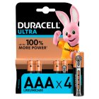 Duracell Ultra Power AAA Batteries Alkaline - 4s Brand Price Match - Checked Tesco.com 21/01/2015