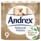 Andrex Natural Pebble Toilet Rolls - 9s Brand Price Match - Checked Tesco.com 10/03/2014