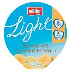 Mullerlight banana & custard yogurt