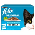 PURINA® FELIX® Adult Cat Fish Selection in Jelly Wet Food Pouch - 12x100g