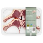 Waitrose 4 hand cut Welsh lamb cutlets -