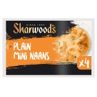 Sharwood's mini plain naans - 4s Brand Price Match - Checked Tesco.com 01/07/2015