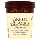 Green & Black's organic vanilla ice cream with a chocolate sauce - 500ml
