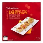Waitrose 16 frozen mini vol au vents - 224g